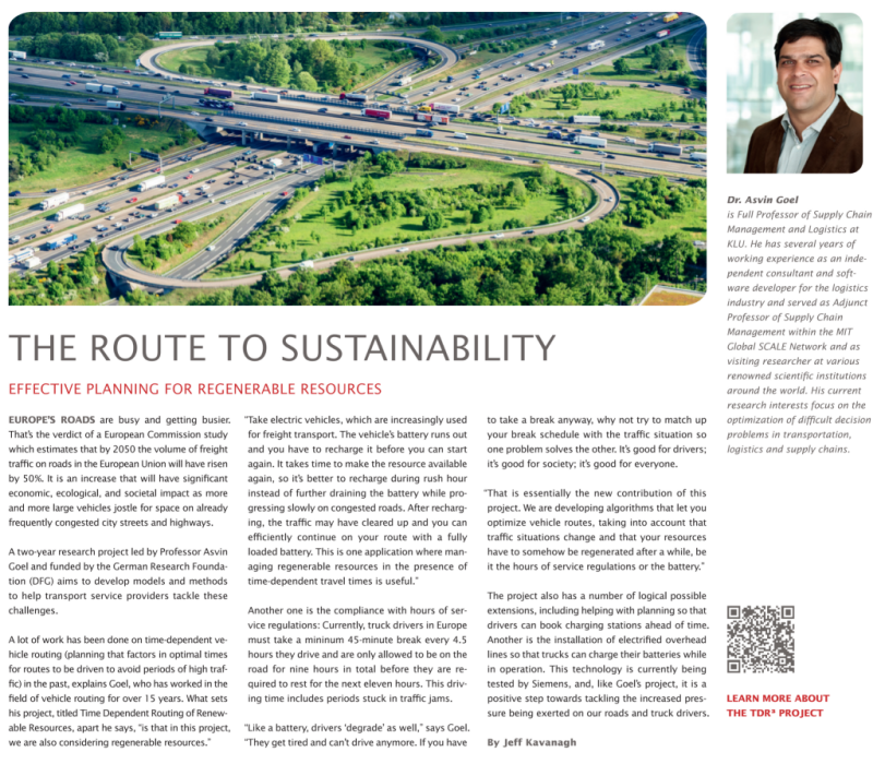 The route to sustainability